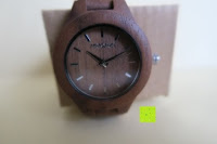 Glas: Holz Armbanduhr 360° Nut