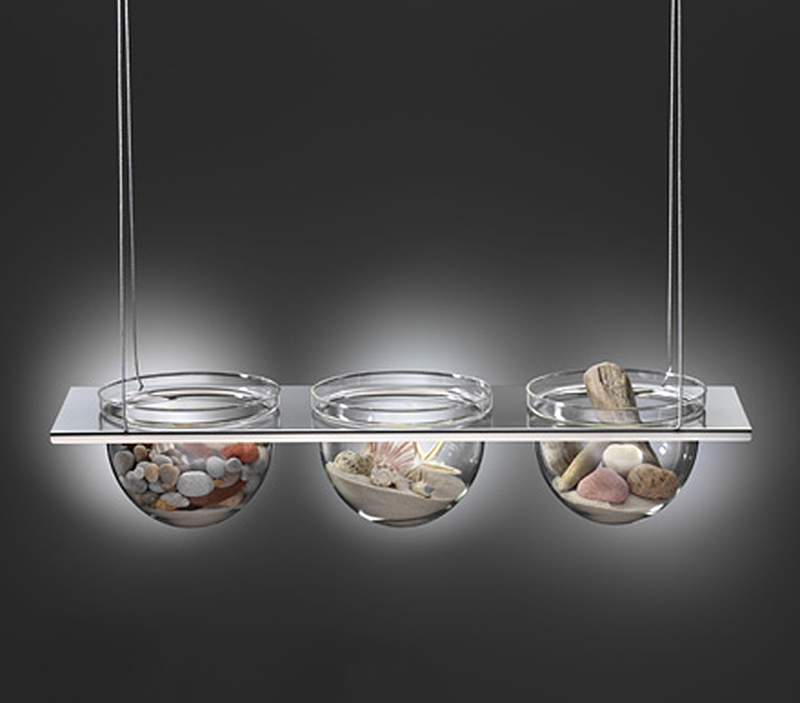 MONO suspended glass bowls