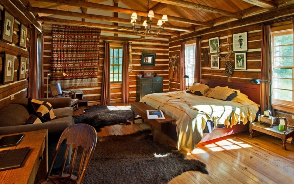 log cabin bedroom design ideas
