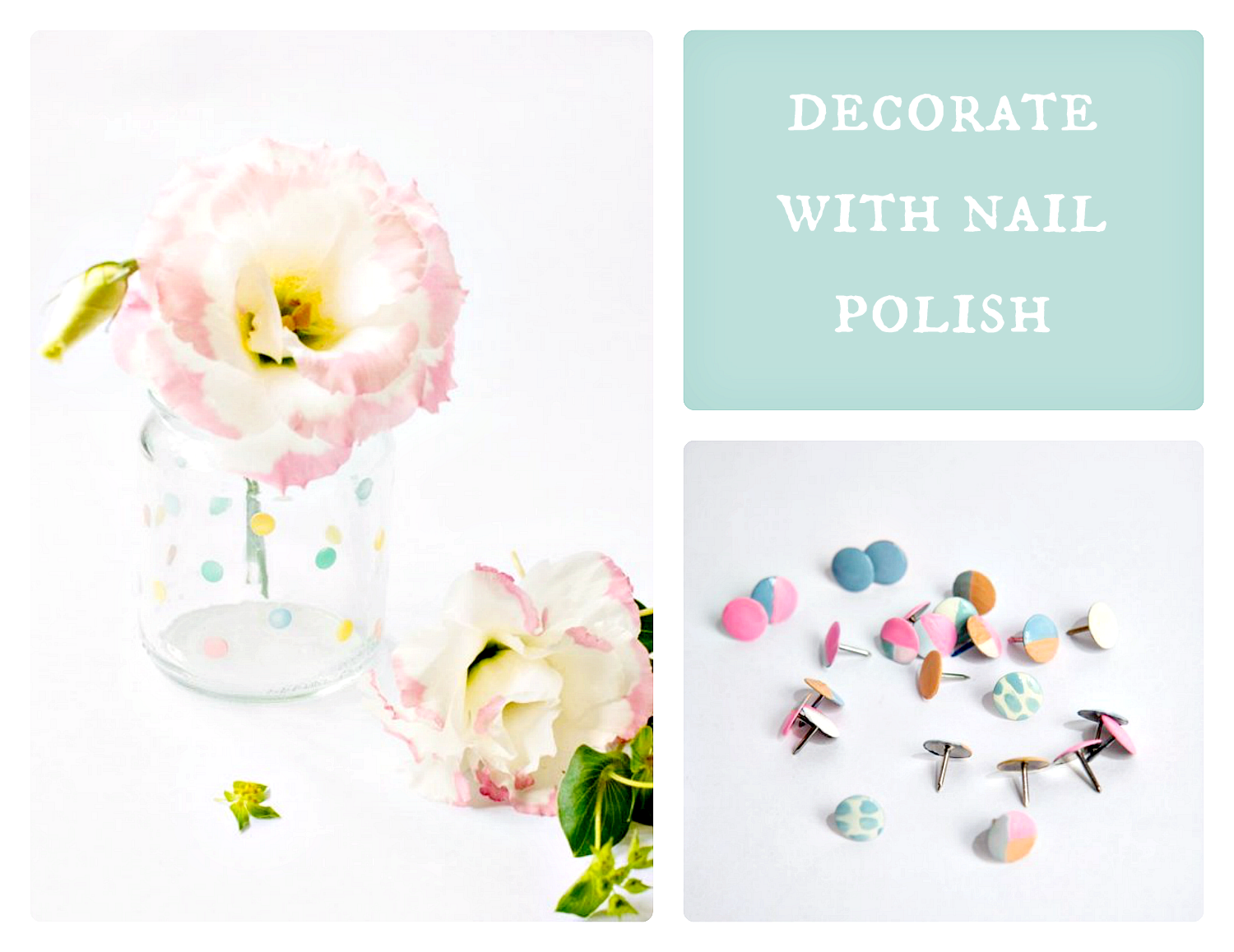 decorate with nail polish