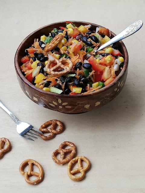 Black beans & vegetable salad