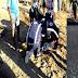 Três jovens que retornavam de vaquejada ficam feridos durante colisão entre duas motos, em Conceição
