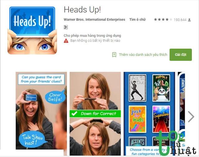 Ứng dụng xã Strees - HEADS UP