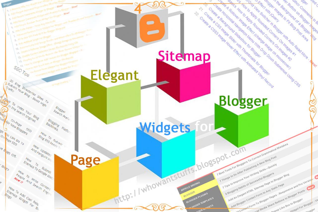 4 Elegant Sitemap Page Widgets For Blogger