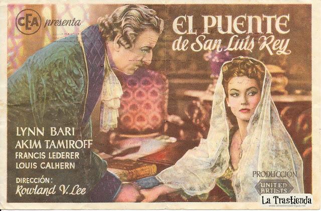 El Puente de San Luis Rey - Programa de Cine - Lynn Bari - Akim Tamiroff