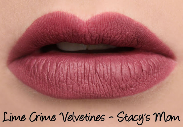 Lime Crime M$LF Velvetines Collection - Stacy's Mom Swatches & Review