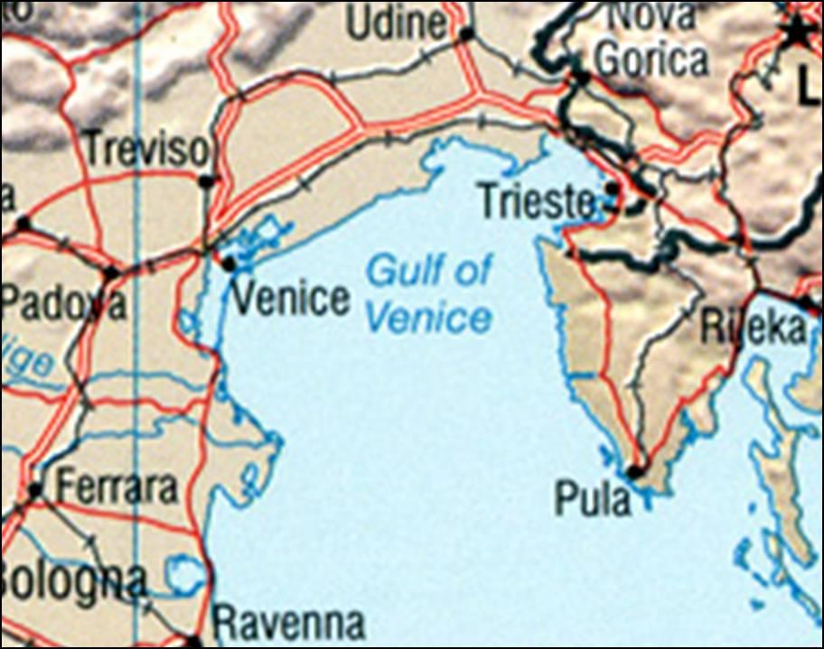 italie egypte kaart