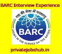BARC Interview Experience