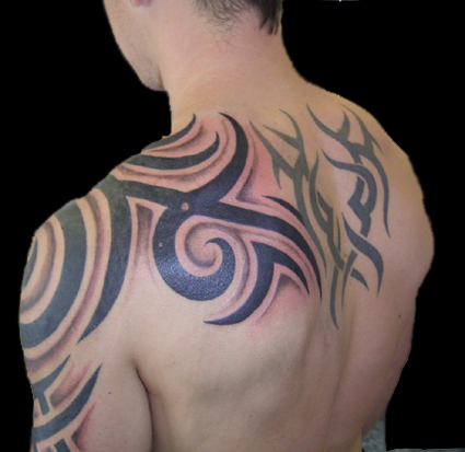 upper arm tribal tattoos for men |Tattos Tattos