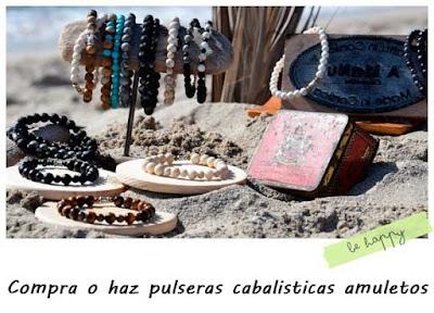 Compra o haz pulseras cabalísticas amuletos