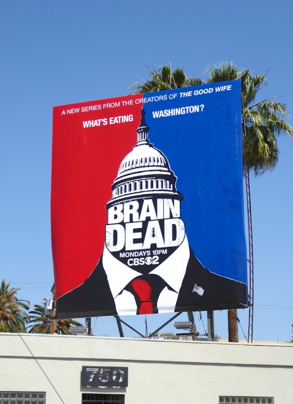 BrainDead series premiere billboard
