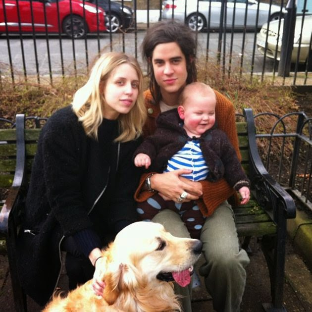 Peaches Geldof with her family