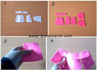 Tutorial cara membuat baju boneka dari kain flanel part 1