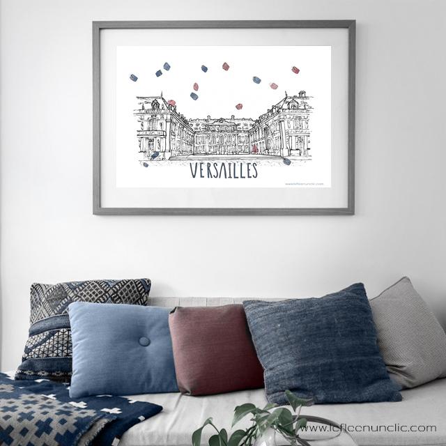le château de Versailles, affiche à télécharger gratuitement
