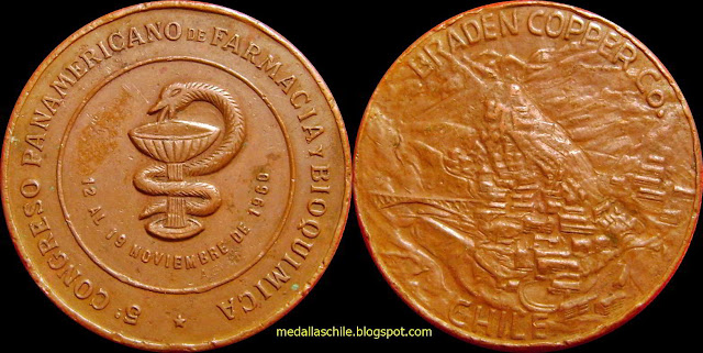 Medalla Congeso de Farmacia 1960 Sewell Braden Cooper