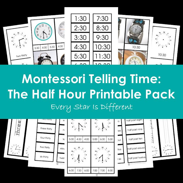 Montessori Telling Time: The Half Hour Printable Pack