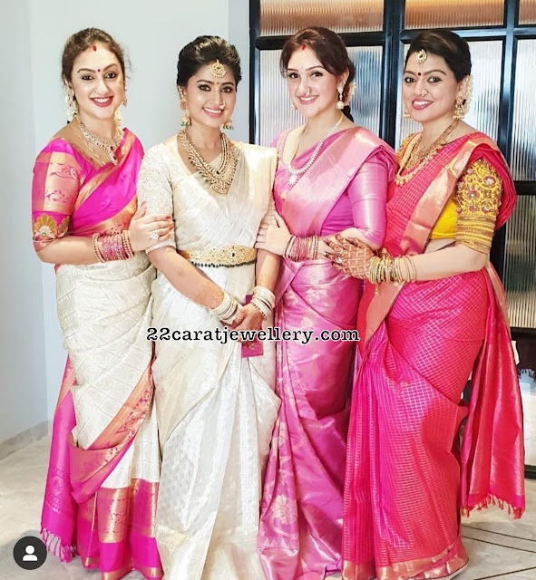 Sneha Preeta and Sridevi Jewellery
