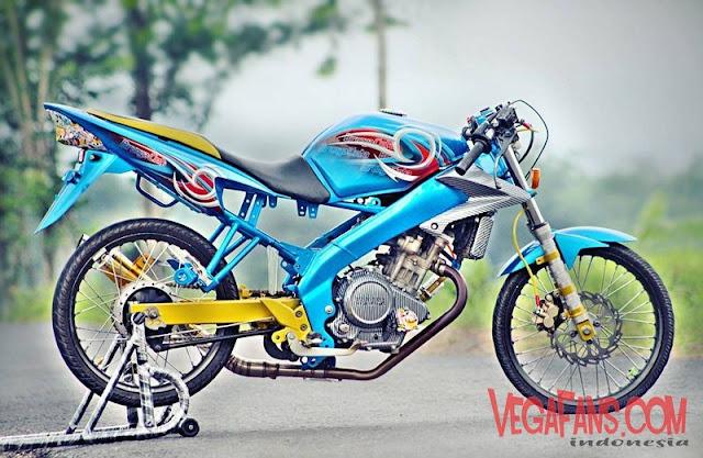 Vixion Modif Street Racing Jari Jari Warna Biru