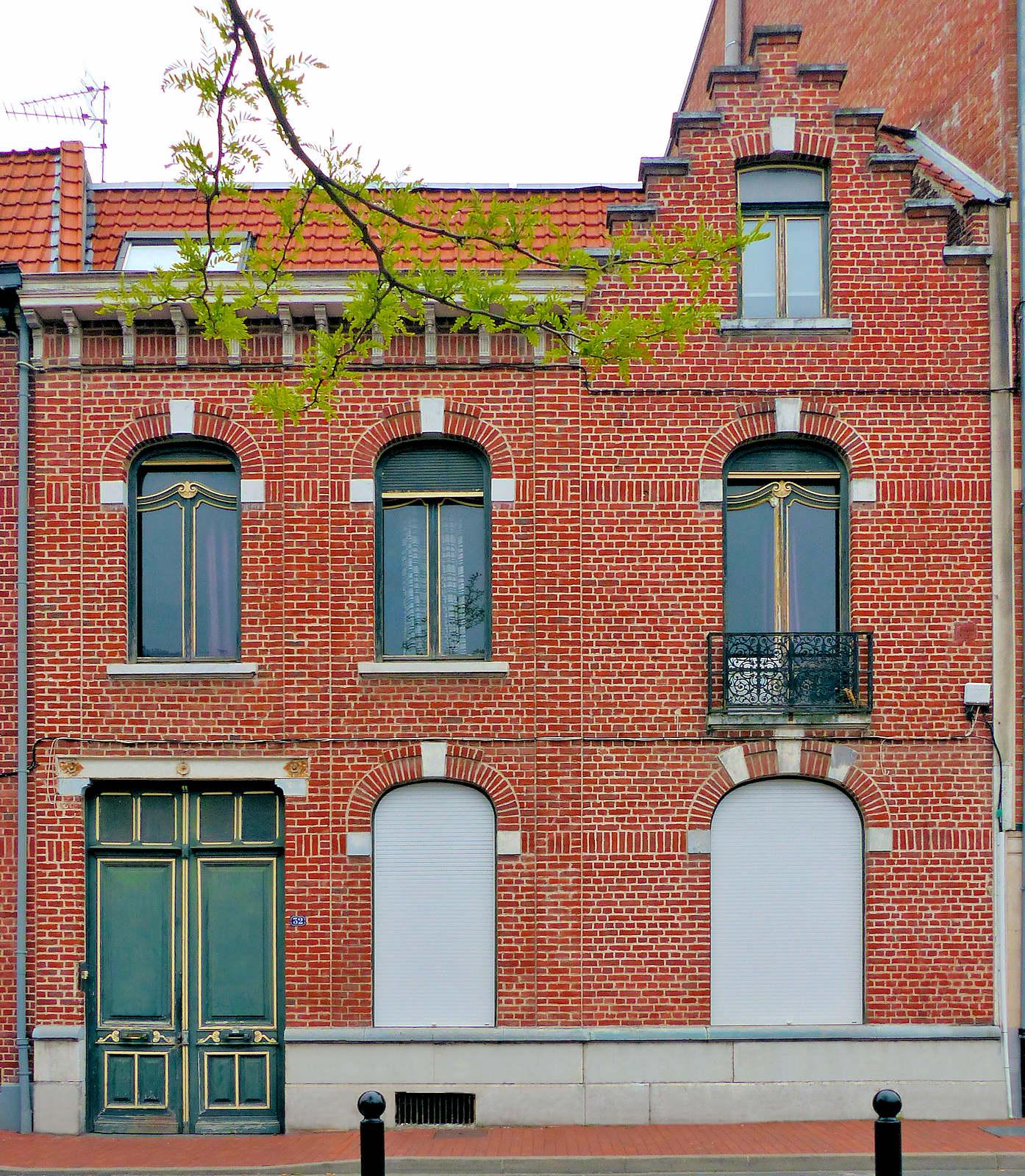 Tourcoing, Rue des Anges - Façade maison
