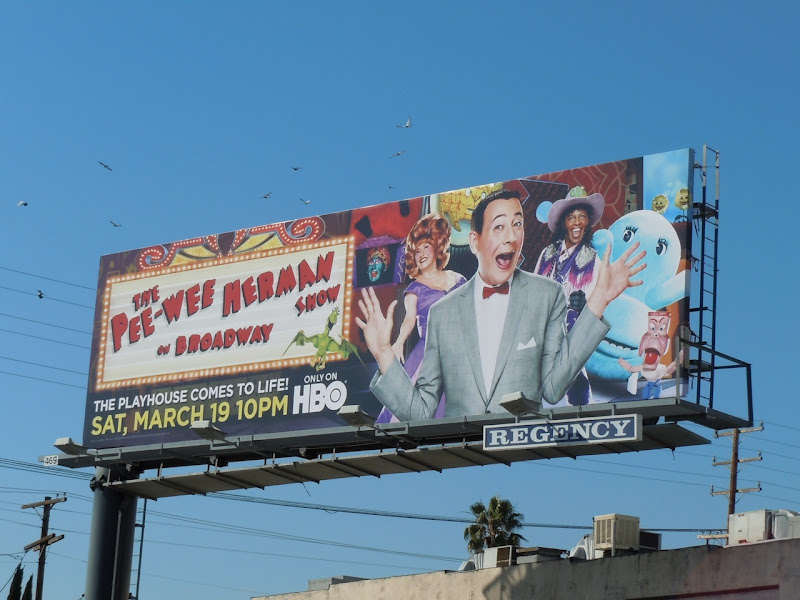 Pee-wee Herman Broadway Show HBO billboard