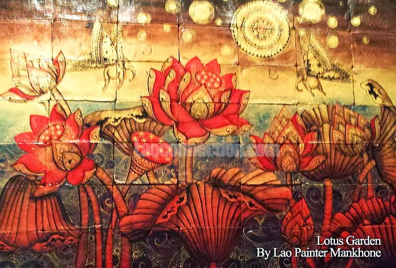 Lotus Garden painting by Laopainter Mankhone
