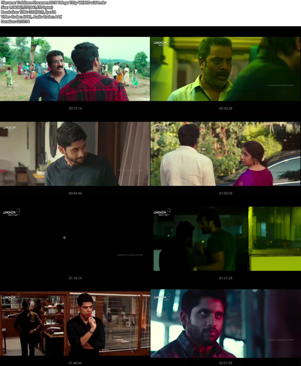 Yuddham Sharanam 2018 Telugu 720p WEBHD x264 | 480p 300MB | 100MB HEVC Screenshot