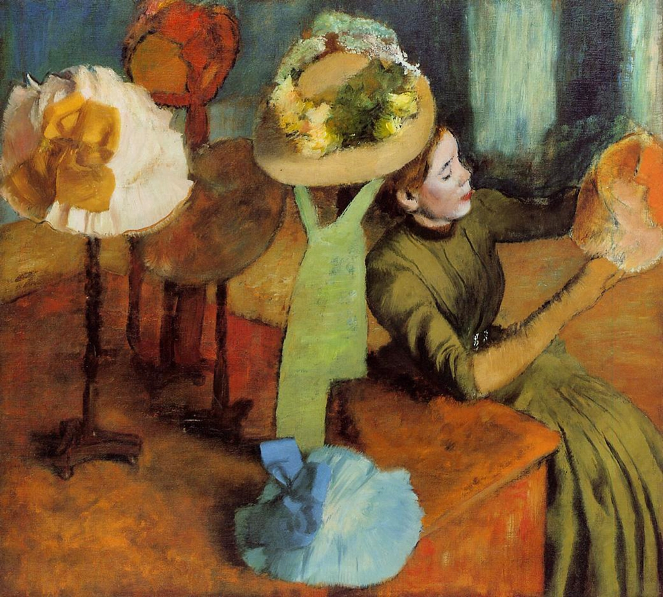 Edgar Degas - The Millinery Shop, 1885