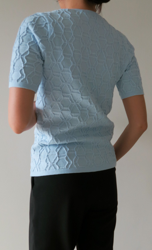 Embossed Texture Knit Shirt