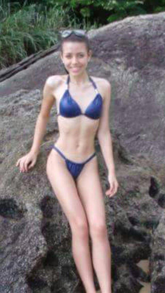 Em foto, Fernada Gomes mostra a forma física antes de começar a praticar musculação. Foto: Arquivo pessoal