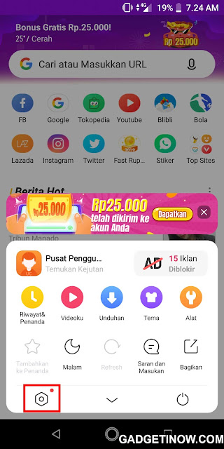 pengaturan uc browser