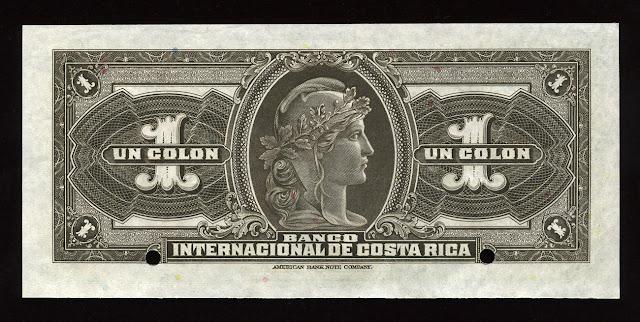 Costa Rica Colon banknote United States Barber coinage Barber Dime