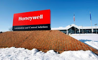 A view of the corporate sign outside the Honeywell International Automation and Control Solutions manufacturing plant in Golden Valley, Minnesota, January 28, 2010. (Credit: Reuters/Eric Miller/File Photo) Click to Enlarge.