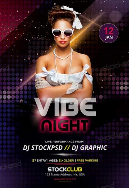 Vibe Night Free Party Flyer Template Download Free Flyer Templates