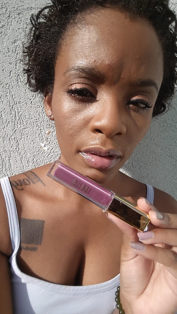 Milani Brilliant Shine Lip Gloss 'Berry Tempting' swatch www.modenmakeup.com