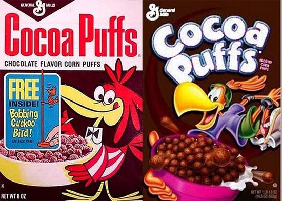 Caixas cereal - personagens olhando para baixo 1
