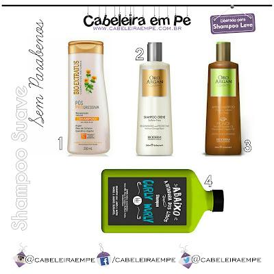 Lista com 4 Shampoos Sulfate Free e Paraben Free liberados para Low Poo