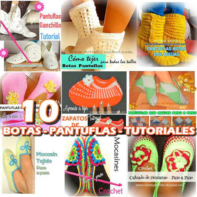 tutoriales de calzado de descanso para tejer