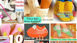 10 Pantuflas, Botas y Mocasines para Tejer / Tutoriales
