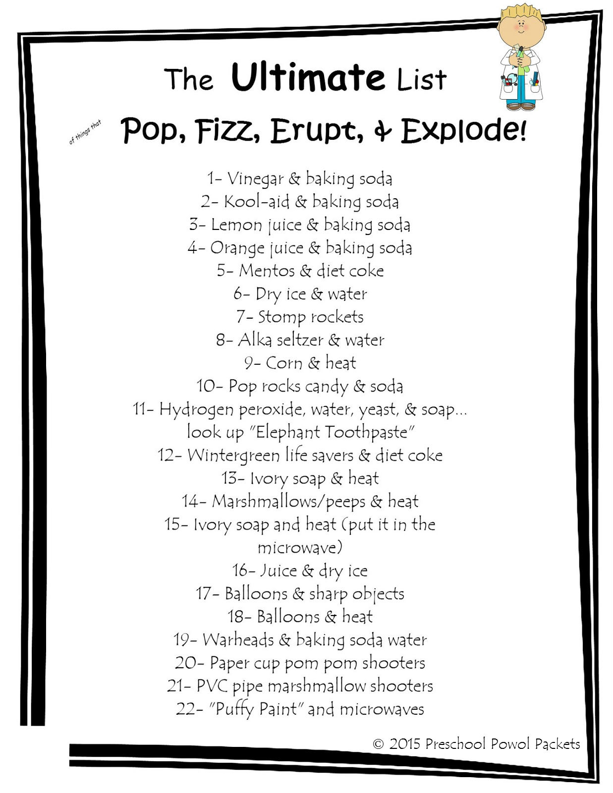 The Ultimate List of Things that Pop, Fizz, Erupt, & Explode