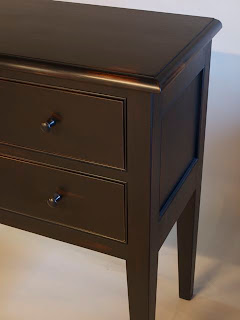 cherry huntboard, milk paint finish, hand made by Timothy Clark, Cabinetmaker/Chairwright