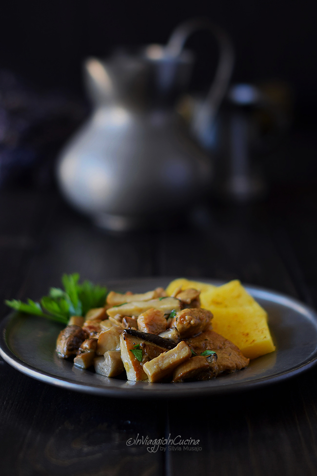 Stew with porcini mushrooms