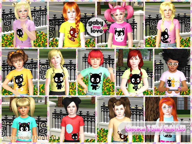 Chococat T-Shirt Child v.S3 , Sims 3 - Muestras