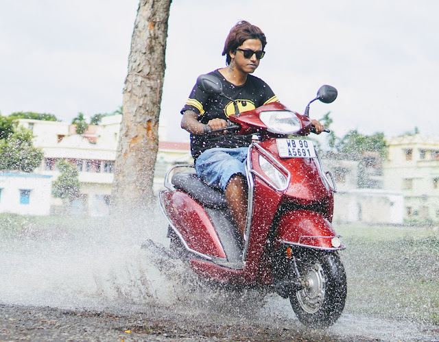 Sourajit Saha With Scooty