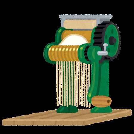 手動の製麺機のイラスト