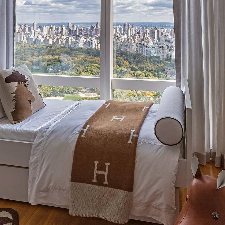 The French Tangerine Hermes Avalon Blanket