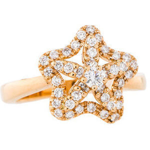 The Real Real Diamond Starfish Ring