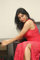 Sakshi Kakkar in Red Legsplit Sleeveless Gown at Dare movie Press meet ~  Exclusive 053.JPG