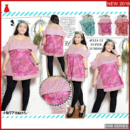 HNB208 Model Atasan Blouse Big Size Ukuran Besar BMG Shop