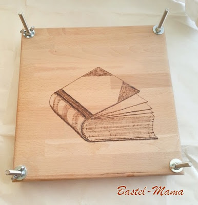 Bookbinding press, DIY, Einbrennarbeit