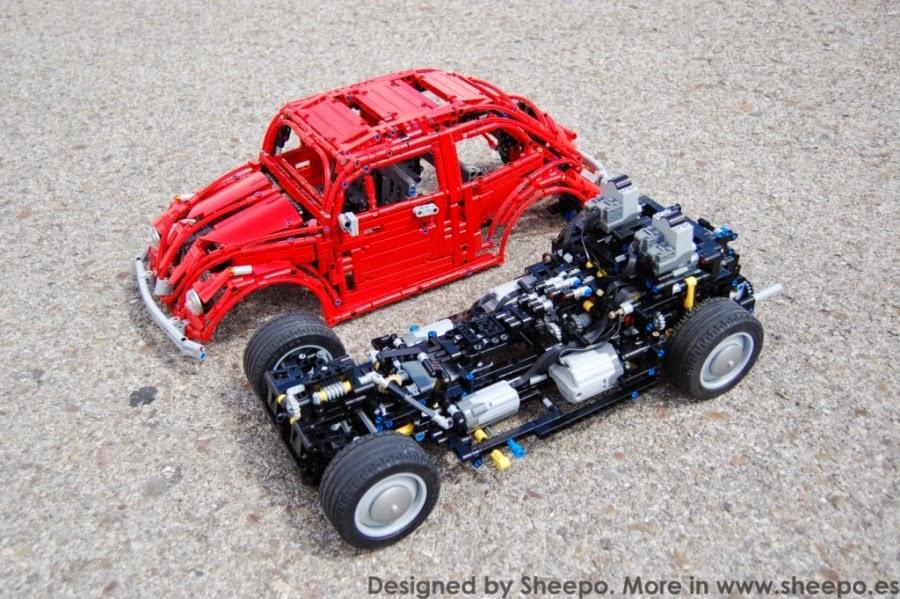 sheepo 39 s lego technic custom volkswagen beetle 39 67 manual. Black Bedroom Furniture Sets. Home Design Ideas